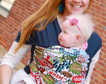 Baby Carrier Hybrid Stretch Wrap - POW! - Front & Back Carries- Instructional DVD Included - Fast Shipping