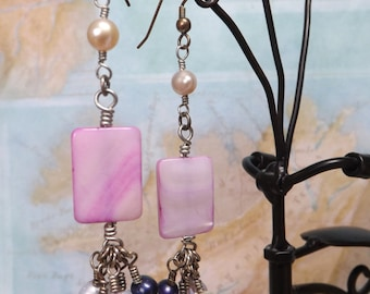 Pearly Pink Earrings
