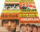 Vintage Beatles Datebook Magazine Lot, 8 Issues - 1964-66 Beatles Magazines in Ex. Condition - John, Paul, George & Ringo
