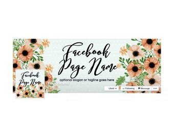 SALE 30% OFF Timeline Cover and Profile Picture - Facebook Timeline Cover - Floral Facebook Cover - Social Media Cover - Daphne
