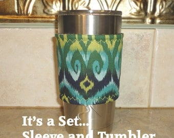 Cozy Cup Cover in Fabric Includes the 20 Ounce stainless Cup