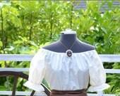 Girls Renaissance Costume Civil War Shirt Peasant Pirate Blouse