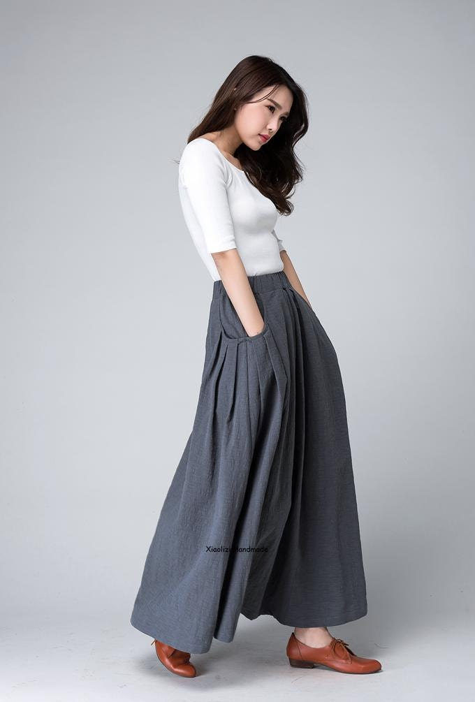 This long white linen skirt is sumptuous in any setting. Pair it with a graphic Quit Your Job tee for an undeniably cool debut or a crisp linen.