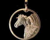 Cut Coin Jewelry - Pendant - US - Horse & Native American