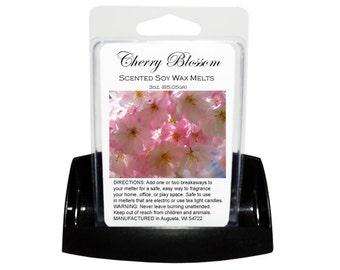 CHERRY BLOSSOM Soy Melts - Wax Tarts - Soy Tarts - Candle Tarts - Melting Tart - Scented Tart - Tart Melt - Wax Melt - Clamshell - Dye Free