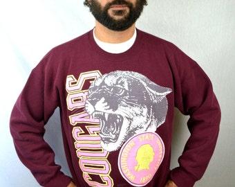 Vintage 1990 90s Washington State University Cougars Sweatshirt