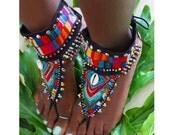 Maasai Mala- Tribal barefoot sandals
