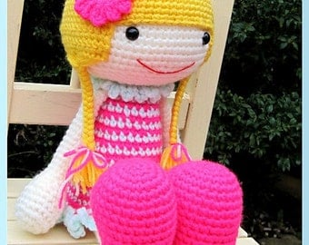 ENGLISH Instructions - Instant Download PDF Crochet Pattern - Huggy Izzy