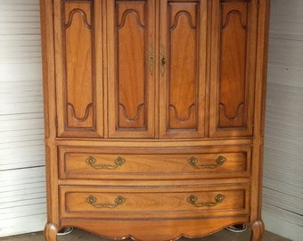 Dresser WARDROBE Highboy Chest Vintage Poppy Cottage PAINT to Order Painted Furniture