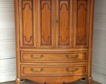 Dresser WARDROBE Vintage French Provincial Highboy Chest Poppy Cottage PAINT to Order Painted Furniture