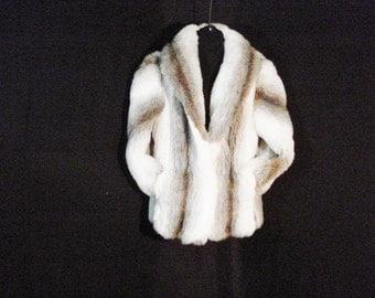 Fox Fur Coat Vegan Faux Fur Saxton Hall Vintage Parker Jacket Outerwear.