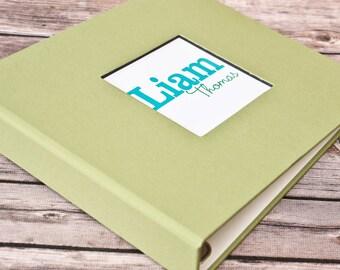 Baby Book, Baby Gift, Baby Album, Baby Memory Book, Baby Keepsake, Modern Baby Book, Sage Green