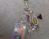 Closeout, Tinker Bell Purse Charm, Zipper Pull, Backpack Accessory, Cute, Diaper Bag Charm, Handmade, Sale