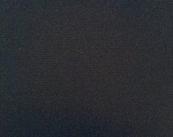 Dark Blue Double Knit Polyester Vintage Fabric