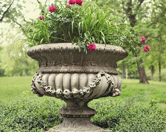 "Lafayette Square Garden Photograph. ""Meet Me in the Garden"" Fine Art Print. St. Louis. Green, Pink, Flowers, Park, Nature 8x10, 11x14, 16x20"