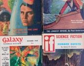 4 SCI-FI DIGESTS, 1950s Pulp, Vintage Galaxy, Analog & more.