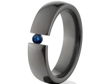 Uniquely You- Black Zirconium-Tension Set- Sapphire-  BZ-6HR-P-Tension