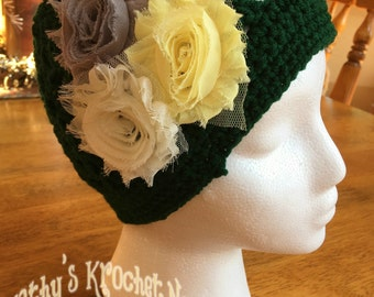 Shabby Chic Packer Hat, Crochet Hat, Packers, Green Bay Packers, Winter Wear, Accessories, Crochet, Shabby Chic