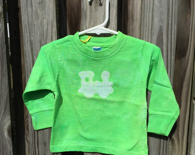 Kids Train Shirt, Green Train Shirt, Boys Train Shirt, Girls Train Shirt, Train Kids Shirt, Toddler Train Shirt (18 months) SALE