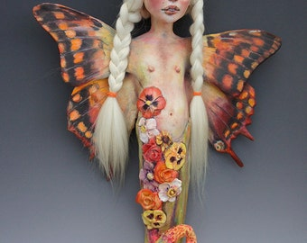 Jaden the Butterfly mermaid by artist Victoria Rose Martin