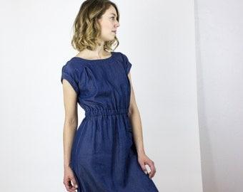 Milan True Blue dress - Tencel denim blue summer dress / Eco fashion dress