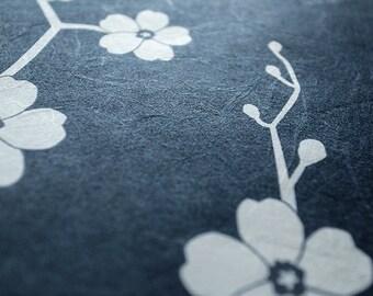 Japanese Washi Ketubah Print by Jennifer Raichman - Cherry Blossom Branch
