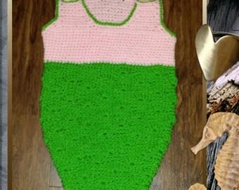 Little Mermaid Sleep Sack Crochet Pattern  INSTANT DOWNLOAD - PDF