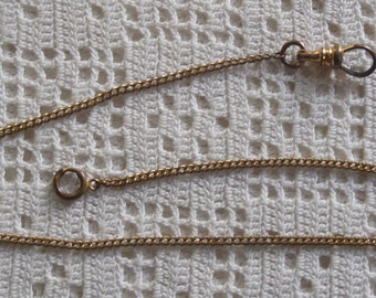 Vintage Pocket Watch Chain Gold Filled Curb Links