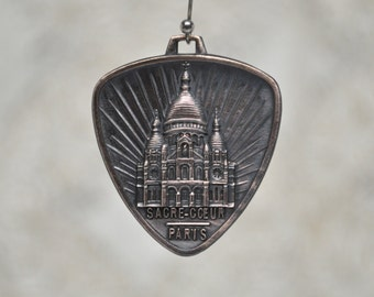 Vintage Art-Deco Sacre Coeur Sacred Heart Cathedral French Medal Religious Pendant