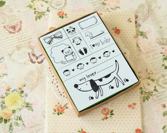 Natural Somssi I LOVE MY BABY scrapbooking stamps set