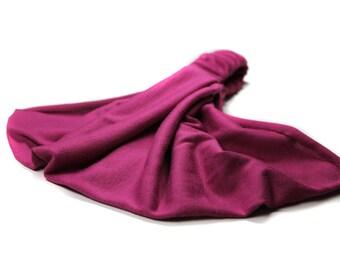 Solid Head Scarf, Fuchsia Hair Band, Thick Hair Band, Fuchsia Bandana, Bright Purple Stretchy Head Wrap (#2857) S M L X