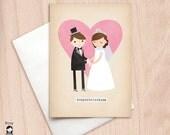 Bride & Groom - Congratulations - Greeting Card