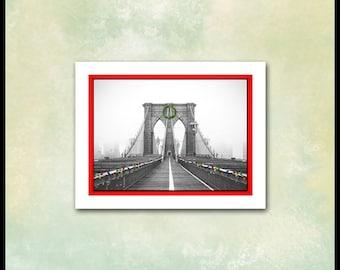 Brooklyn Christmas Cards / 10 Holiday Cards / New York City / Iconic Brooklyn Bridge Greeting Card / Vintage Brooklyn Photo / Borough