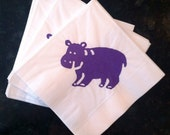 Custom Order for Sheila - Hippo Paper Cocktai Napkins