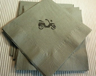 Motorcycle Motorcycle Paper Napkins - Cocktail/Luncheon/Dinner - Set of 24 - Transportation Theme Party
