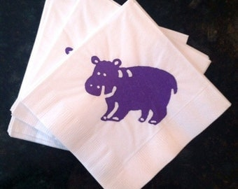 Hippo Paper Cocktai Napkins- Package of 24