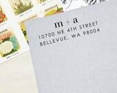Return Address Stamp - Style #33, Wood Mounted or Self-Inking Address Stamp, Wedding Invitation Stamp, Personalized Stamp, Modern Stamp