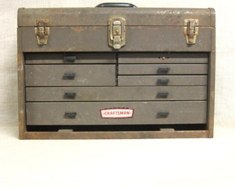 Machinist Box , Tool Box , Drawers , Box with Drawers , Storage , Organization , Desk Box , Dresser Box , Metal Box , Industrial ,Studio Box