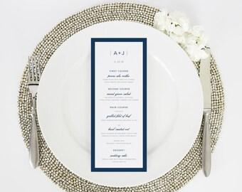 Wedding Menu - Dinner Menu - Sophisticated Modern Design - Deposit