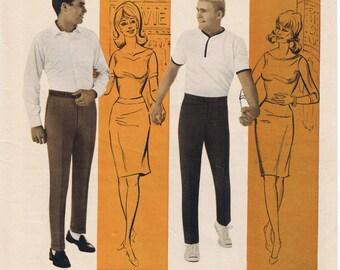 1966 Key Man Slacks - Vintage Playboy Magazine Ad - 60's Mens Fashion