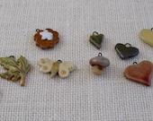 Reserved for Janice - 10 Mini Handmade Ceramic Garden-Themed Items - Multicolor