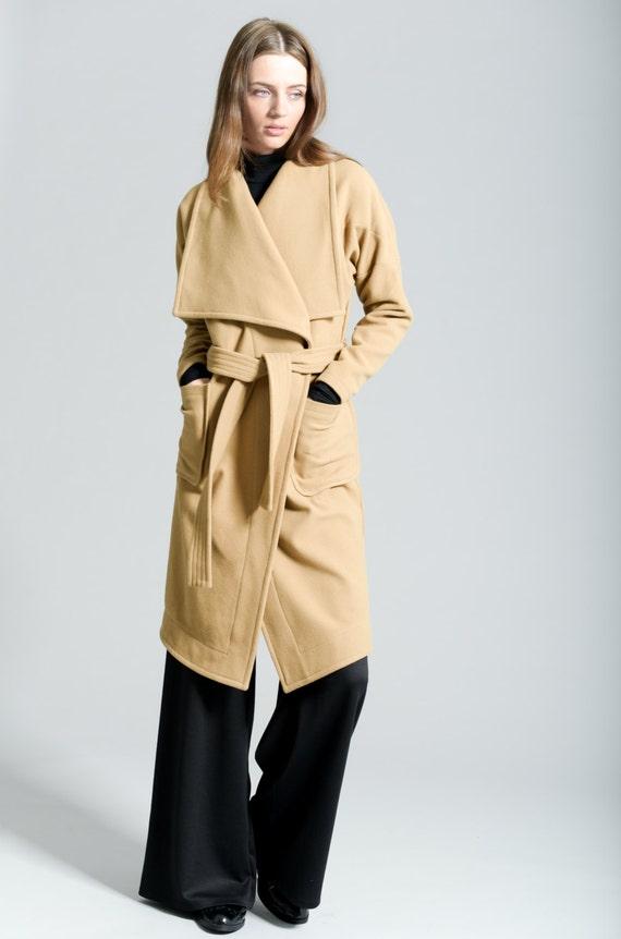 Camel Coat Winter Coat Wool Jacket Stylish Jacket Wrap