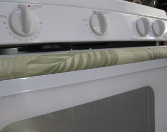 Refrigerator and Stove Handle Covers-Set of 3 Light Green Leafs