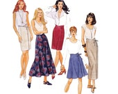 90s High Waisted Wrap Skirts pattern McCalls 7148 Vintage sewing pattern Size 8 10 12 UNCUT Factory Folds