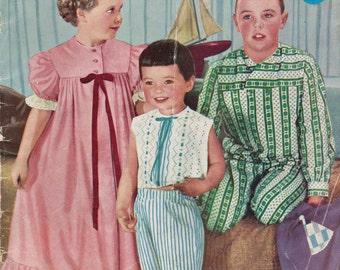 Enid Gilchrist Undies Beach & Sleepwear 1950s Original Vintage Sewing Pattern Drafting Book 0 to 7 Years PAJAMAS PLAYSUITS PETTICOATS