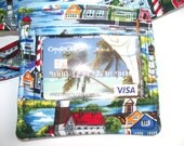 Lighthouse ID Holder with Lanyard,Work ID,Pass Holder,Seaside Lighthouses Coin Purse,Key Chain Wallet, Work Security Badge Pouch,SeasideTown