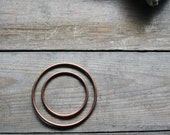 Fox - 10 Gauge, Natural Copper Hoops