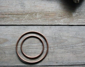 Fox - 10 Gauge, Natural Copper Hoops
