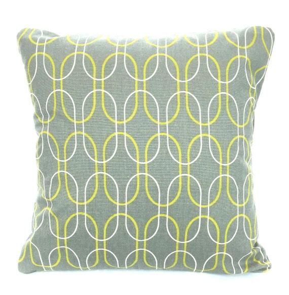 SALE Gray Citrine Cream Decorative Throw Pillow Cover