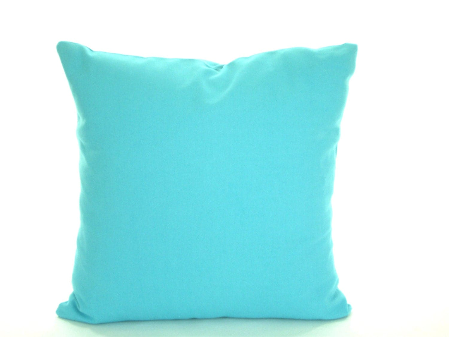 Throw Pillows Aqua Blue : Solid Aqua Blue Pillow Cover Decorative Throw Pillow
